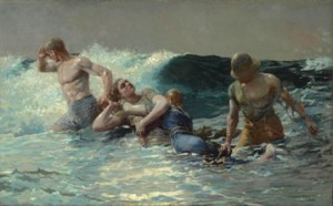 Winslow Homer (American, 1836–1910), Undertow, 1886. Oil on canvas, 29 13/16 x 47 5/8 in. (75.7 x 121 cm). Sterling and Francine Clark Art Institute, Williamstown, Massachusetts, 1955.4