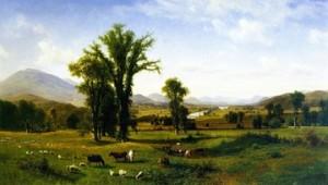 Albert Bierstadt, Mt. Ascutney from Claremont, New Hampshire, 1862. 40.5 x 70.5 in. Fruitlands Museum