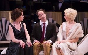 (l-r) Ellen Harvey (Mrs. Rittenhouse), Joey Slotnick (Groucho/Captain Spaulding), and Mara Davi (Mrs. Whitehead) photo T Charles Erickson