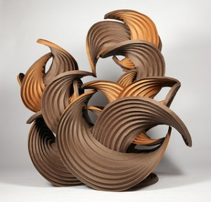 Erik Demaine and Martin Demaine, Earthtone Series, folded paper, courtesy the artists, courtesy Berkshire Museum