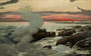 Winslow Homer (American, 1836–1910), West Point, Prout's Neck, 1900. Oil on canvas, 30 1/16 x 48 1/8 in. (76.4 x 122.2 cm). Sterling and Francine Clark Art Institute, Williamstown, Massachusetts, 1955.7