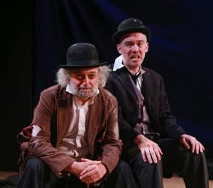David Mandelbaum is Estragon and Shane Baker is Vladimir in the Yiddish 'Godot' (photo Ronald L. Glassman)