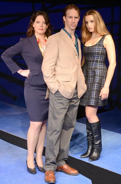 Danielle Skraastad, Christopher Kelly and Olivia Gilliatt in 'Tomorrow in the Battle' (photo Rob Shannon)