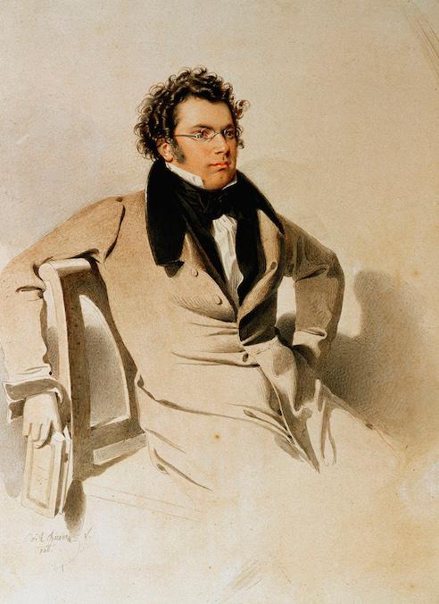 Franz Schubert (by W.A. Rieder, 1825)