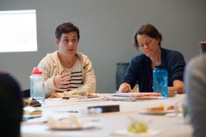 Playwright Winter Miller and WAM artistic director Kristen van Ginhoven