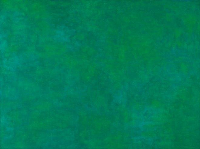 Ellsworth Kelly (American, b. 1923), Tableau Vert, 1952. Oil on wood, 29 1/4 x 39 1/4 in. (74.3 x 99.7 cm). The Art Institute of Chicago. Gift of the artist, 2009.51  © Ellsworth Kelly