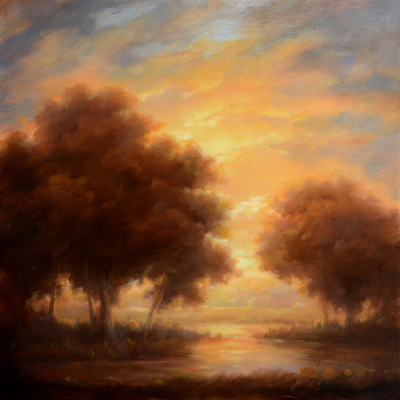 'Luminescence,' 2014  12 x 12 inches oil on panel  by Jane Bloodgood-Abrams
