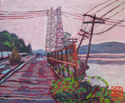 'River Tracks, River Power.' 2014 16 x 20 inches oil on canvas by Dan Rupe