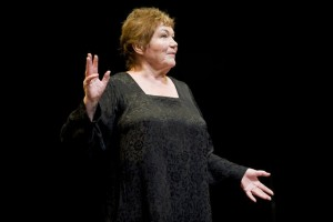 Tina Packer in 'Women of Will' (photo Kevin Sprague)