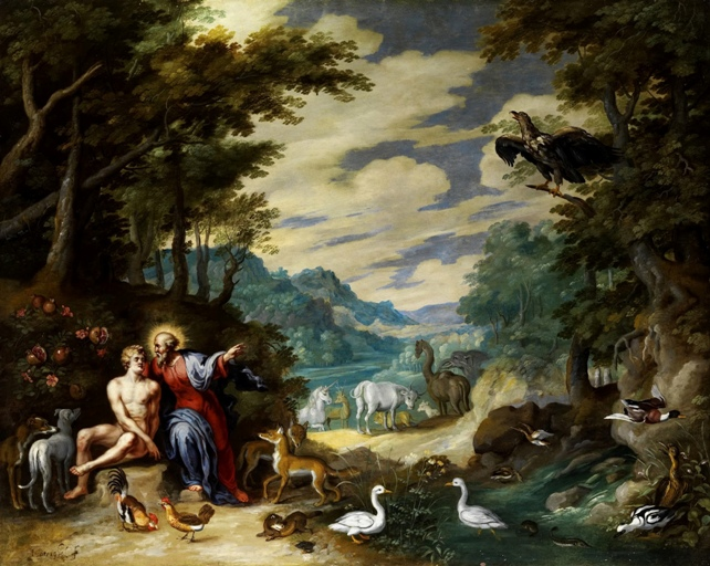 'Creation of Adam in the Paradise' by Jan Breughel the Younger