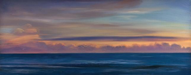 Atlantic Dusk, 2013, oil on canvas, by Jim Schantz