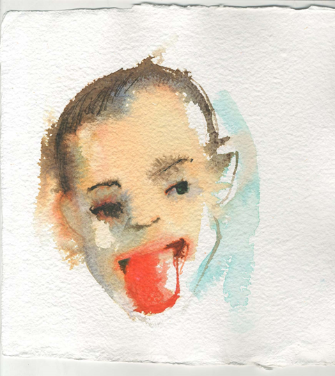 Steve Locke, No. 2 from 100 Watercolors, 2014. Courtesy of the artist and Samsøn