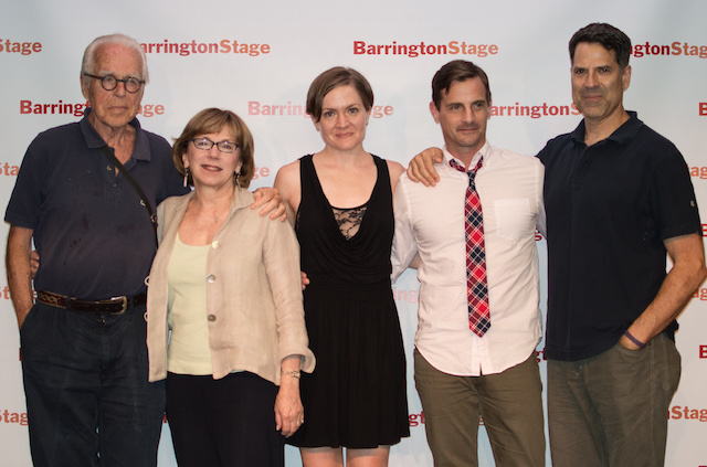 'His Girl Friday' playwright John Guare, director  Julie Boyd, and 'Friday' cast members