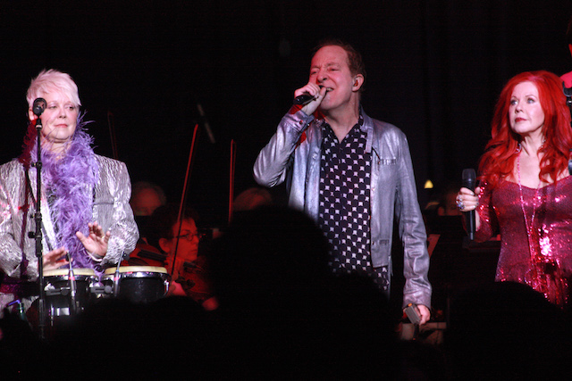 The B52s (Cindy Wilson, Fred Schneider, Kate Pierson) at Tanglewood (photo Seth Rogovoy)